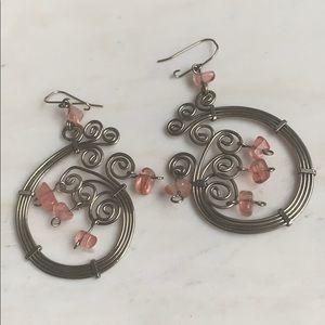 Handmade Argentine silver earrings
